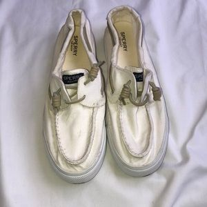Sperry Women's Canvas Slip-on Shoes White Size 10